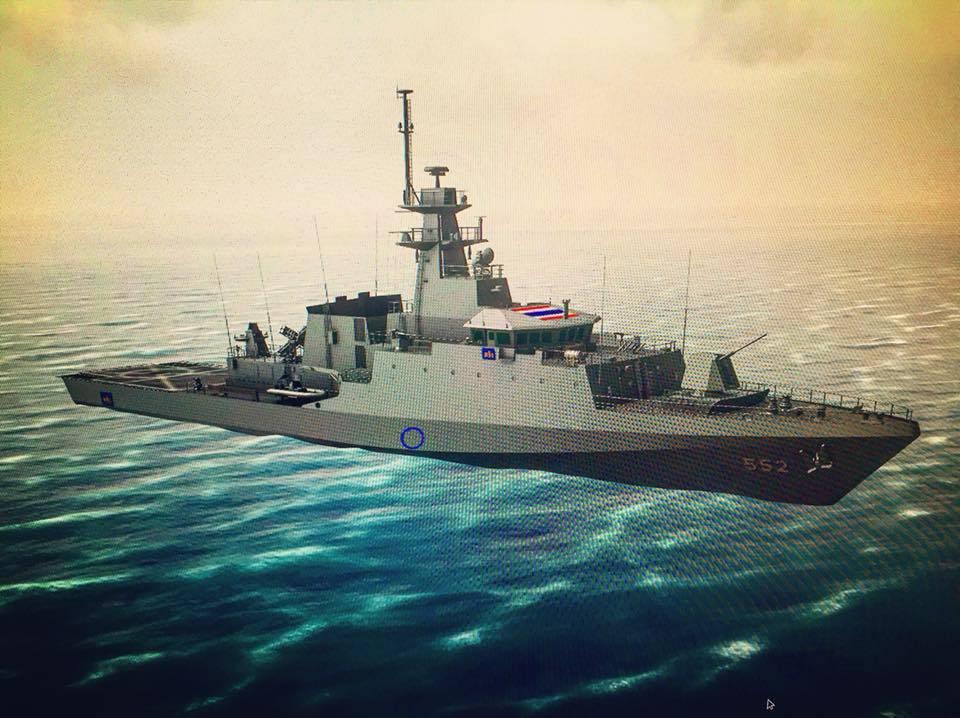 ยลโฉม! เรือหลวงประจวบคีรีขันธ์ ฝีมือทร.ไทย เสริมเขี้ยวเล็บกำลังรบ