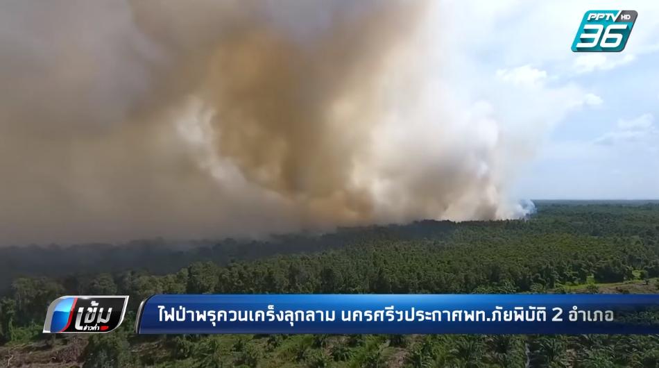 ระดมดับไฟป่าพรุควนเคร็ง นครศรีธรรมราช ประกาศพื้นที่ภัยพิบัติแล้ว 2 อำเภอ