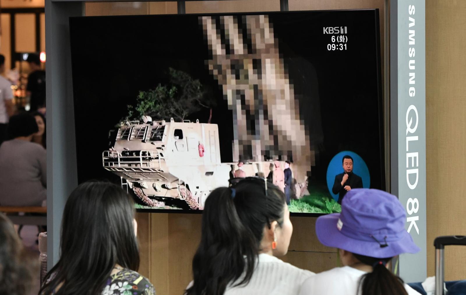 เกาหลีเหนือยิงปนาวุธ ประท้วงซ้อมรบระหว่างเกาหลีใต้ - สหรัฐฯ