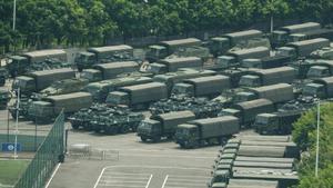 """""""กองทัพจีน"""" สับเปลี่ยนกำลังเข้าฮ่องกง ระบุเป็นตามวงรอบปกติ"""