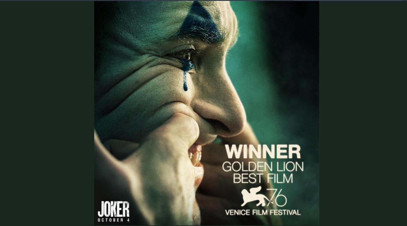 """""""The Joker"""" คว้ารางวัลสิงโตทองคำ เทศกาลหนังเมืองเวนิส"""