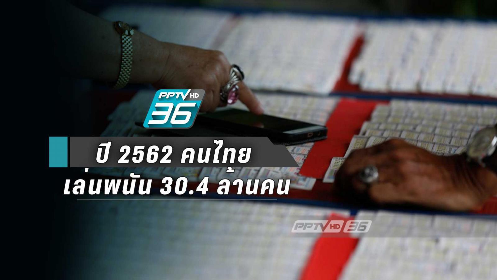 คนไทย เล่นพนัน 30.4 ล้านคน ลอตเตอรี่ อันดับ 1