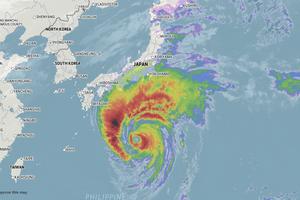"""ทั่วโลกจับตา! ซุปเปอร์ไต้ฝุ่น """"ฮากิบิส"""" เตรียมถล่มญี่ปุ่น รุนแรงเท่าเฮอริเคนระดับ 5"""