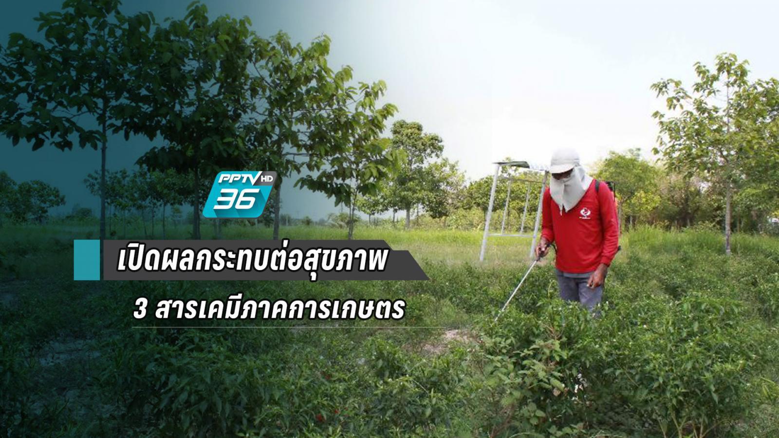 เปิดข้อมูลผลกระทบสุขภาพ 3 สารเคมีภาคการเกษตร