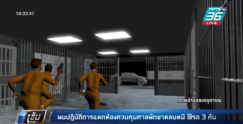 พบปฏิบัติการแหกห้องควบคุมศาลพัทยาหลบหนี ใช้รถ 3 คัน