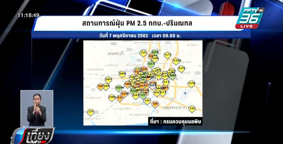 เช้านี้ กทม.ติดท็อป 5 โลก ฝุ่น PM 2.5 เกินมาตรฐาน