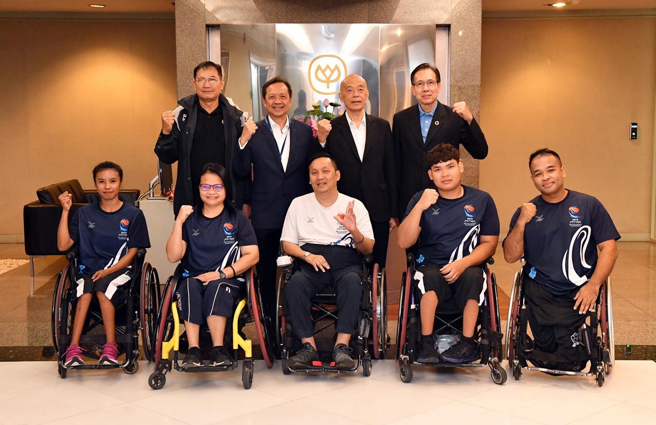 ซีพีเอฟ สนับสนุนกีฬาวีลแชร์บาสเกตบอลทีมชาติไทยต่อเนื่องเป็นปีที่ 9