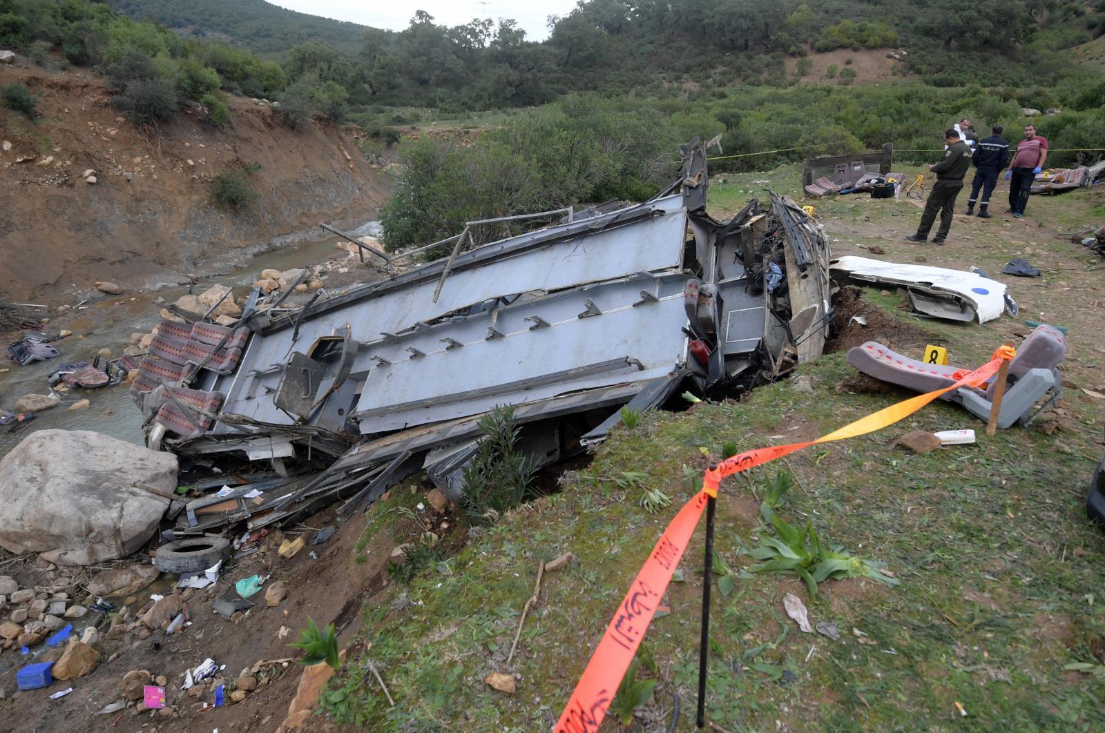 รถบัสเสียหลักตกเขาในตูนิเซีย ตาย 26 ศพ