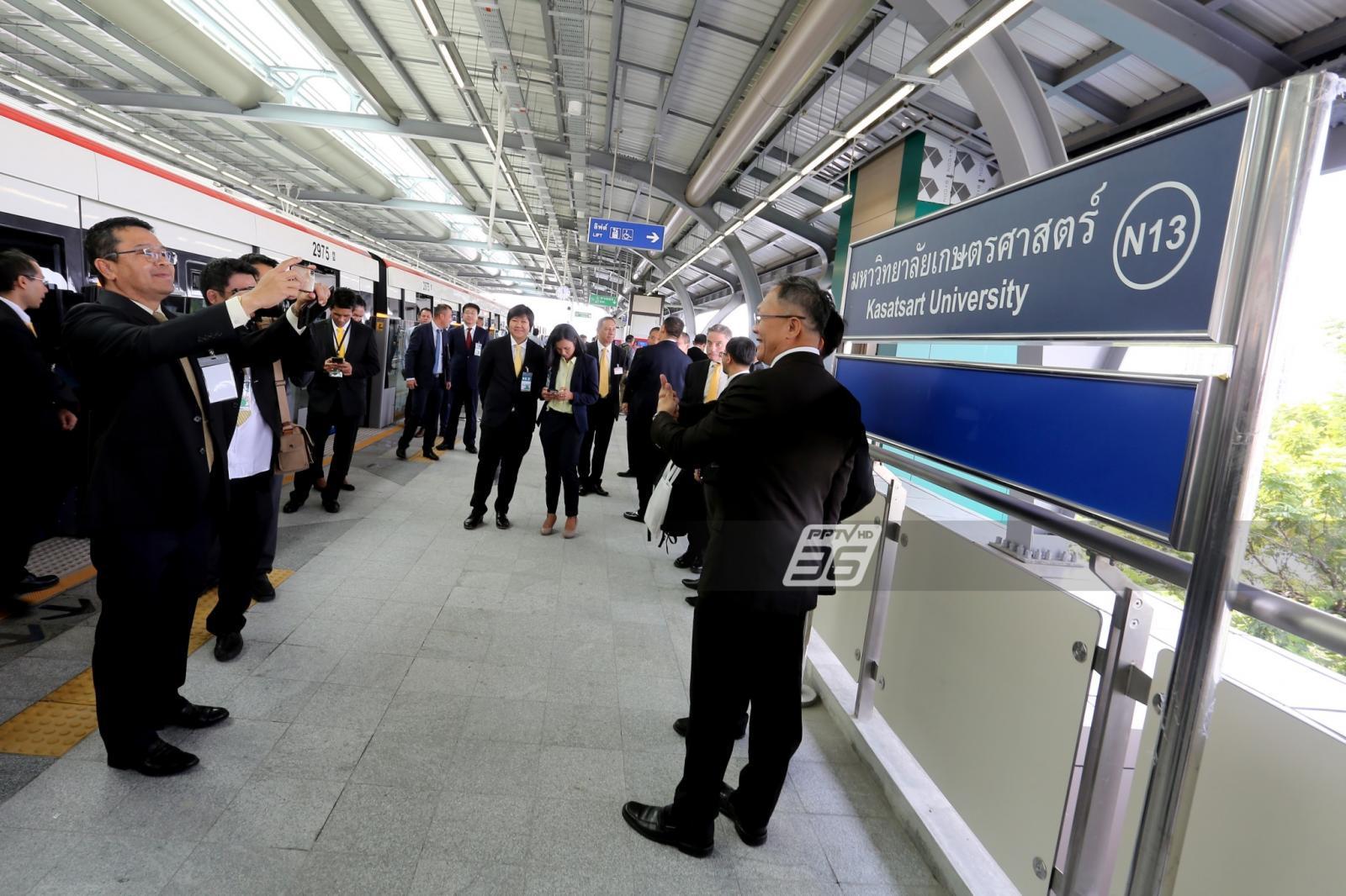 นายกฯ เปิดทดลองเดินรถไฟฟ้าสายสีเขียวเพิ่ม 4 สถานี ชี้ถือเป็นผลงานช่วง 5 ปี