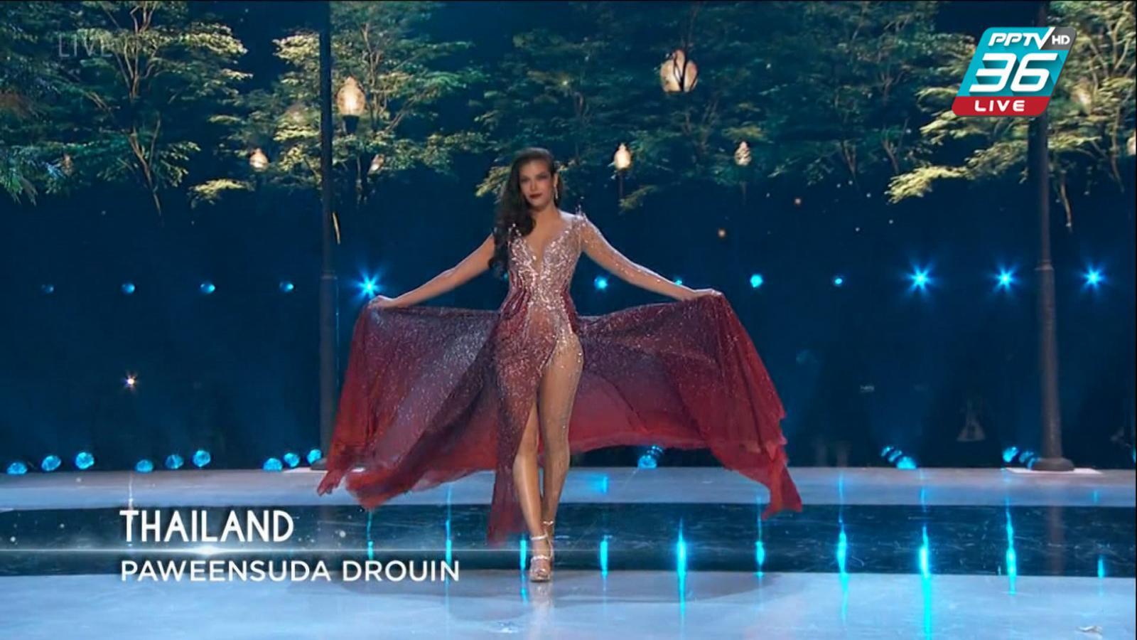 """""""ฟ้าใส ปวีณสุดา"""" เข้ารอบ 5 คนสุดท้าย Miss Universe 2019"""