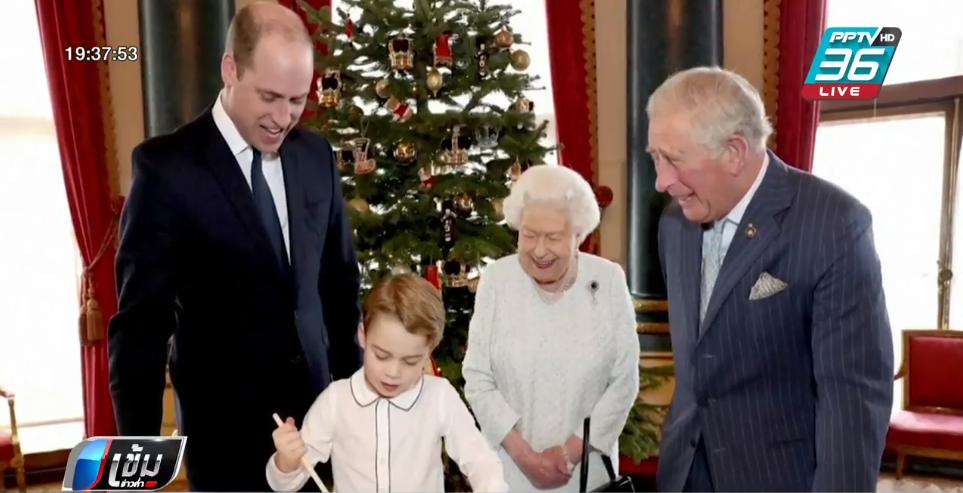"""""""ควีนเอลิซาเบธ"""" ทรงทำพุดดิ้งร่วมกับรัชทายาท รับวันคริสต์มาส"""