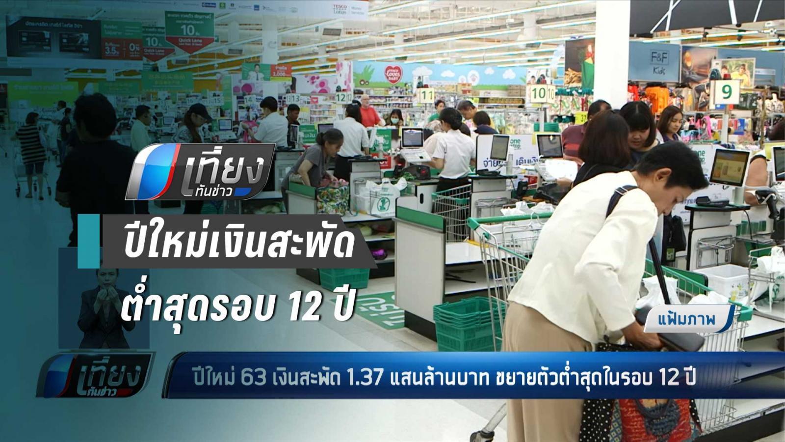 ม.หอการค้าไทย คาดปีใหม่ 63 เงินสะพัด 1.37 แสนล้านบาท ขยายตัวต่ำสุดรอบ 12 ปี