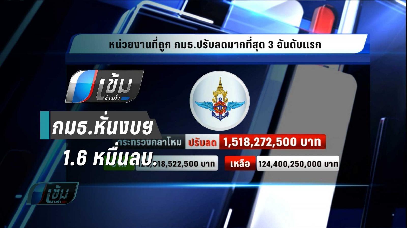 กมธ.วิสามัญฯหั่นงบฯ 1.6 หมื่นล้านบาท กองทัพมากที่สุด