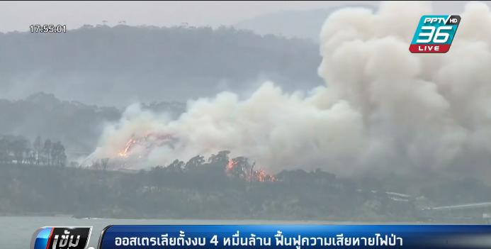 ออสเตรเลีย ตั้งงบ 4 หมื่นล้าน ฟื้นฟูความเสียหายไฟป่า