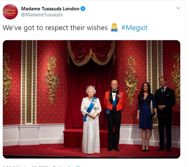 """มาดามทุสโซกรุงลอนดอน แยกหุ่นขี้ผึ้ง """"เจ้าชายแฮร์รี่ – เมแกน"""" ออกจากโซนราชวงศ์"""