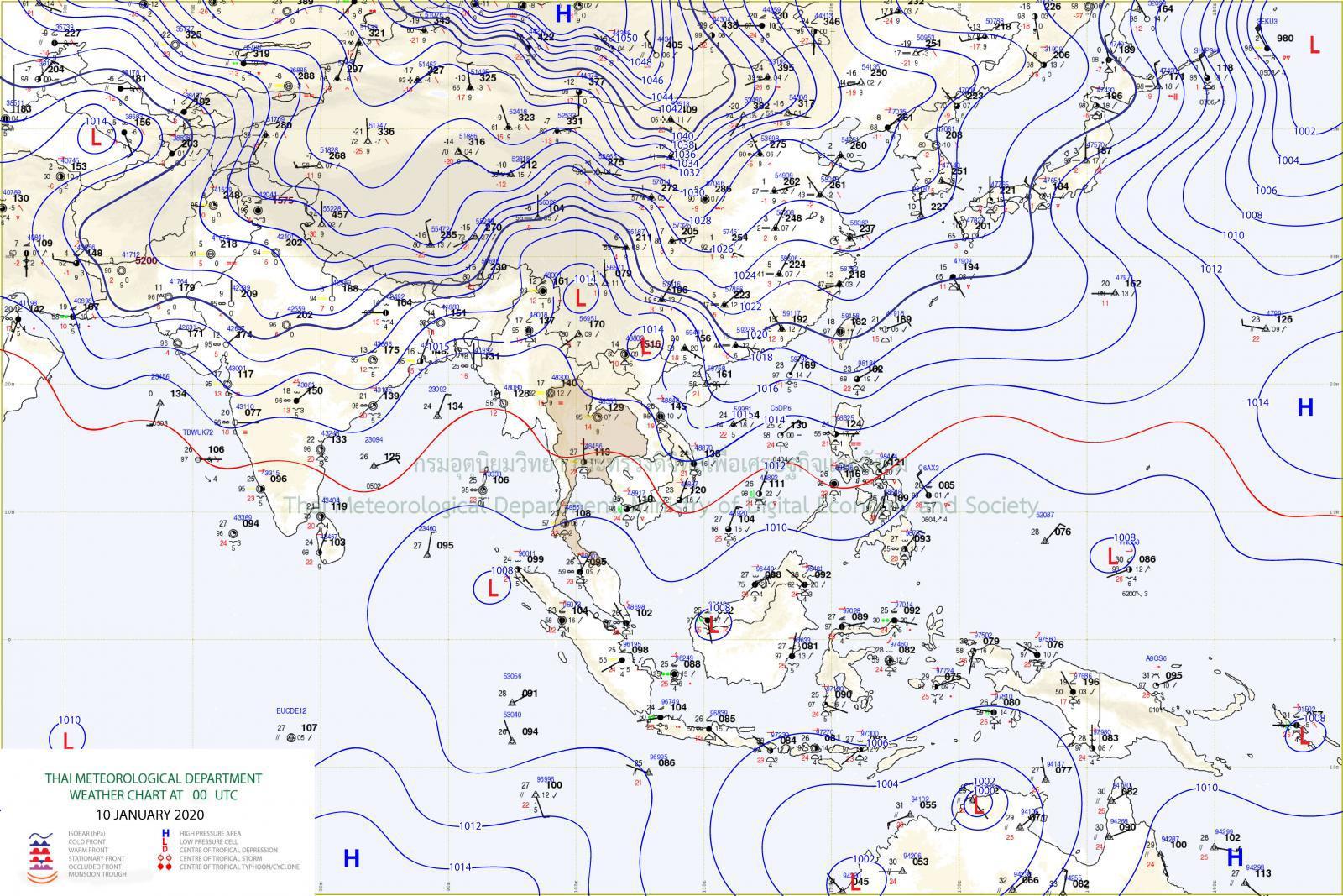 อุตุฯ เผย เหนือ-อีสาน เย็นต่อเนื่อง ใต้มีฝนน้อย