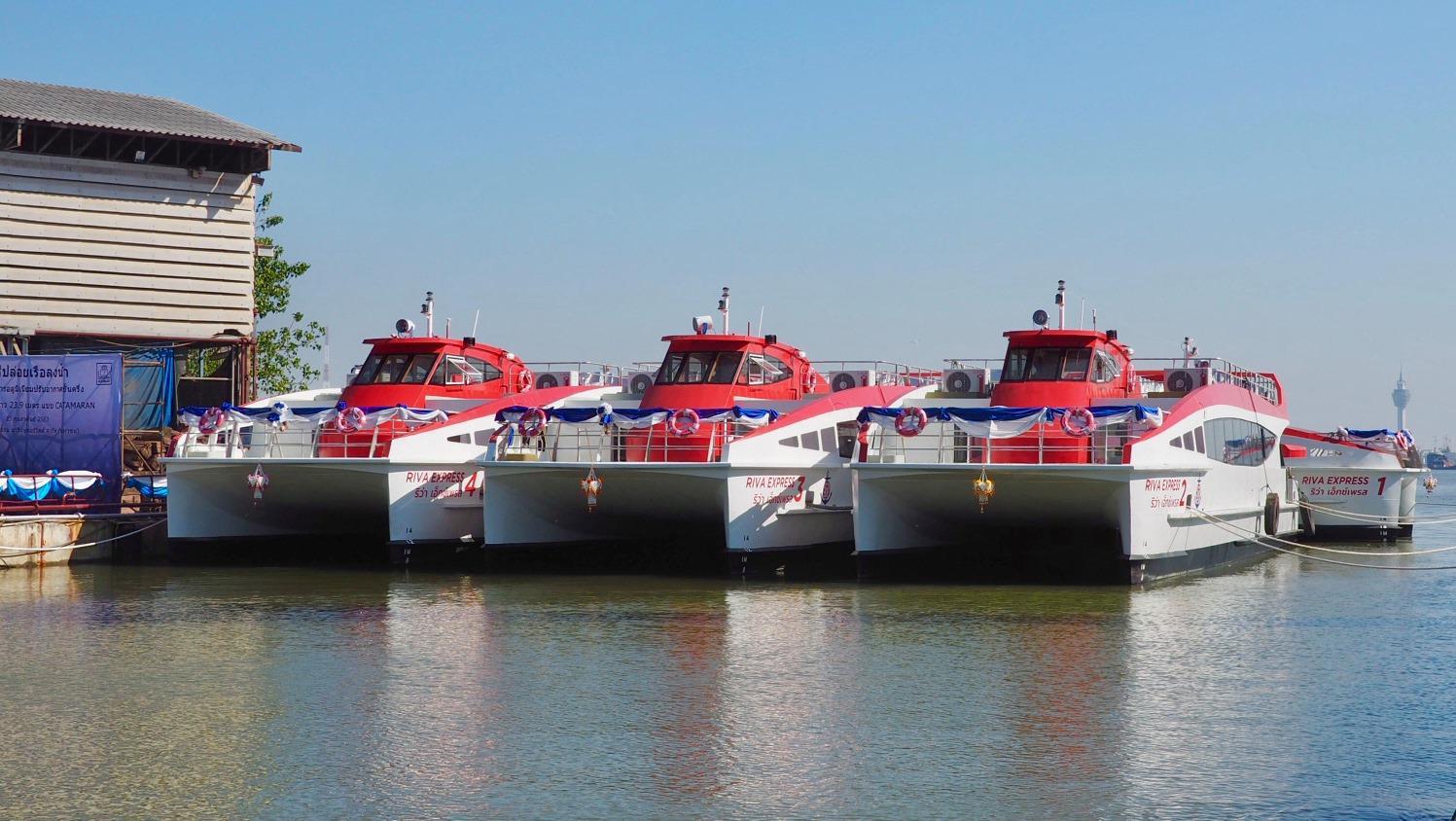 บริษัท เรือด่วนเจ้าพระยา จำกัด จัดพิธีปล่อยเรือ Riva Express ปรับอากาศ 4 ลำใหม่ลงน้ำแล้วในวันนี้