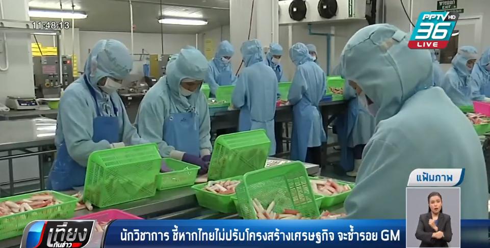นักวิชาการ ชี้หากไทยไม่ปรับโครงสร้างเศรษฐกิจ จะซ้ำรอย GM