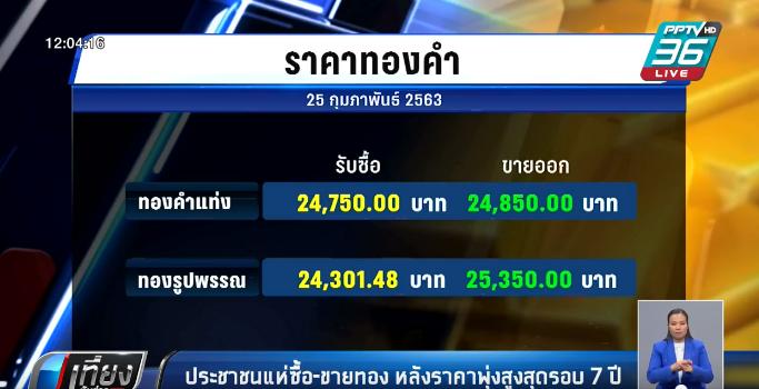 ประชาชนแห่ซื้อ-ขายทอง หลังราคาพุ่งสูงสุดรอบ 7 ปี