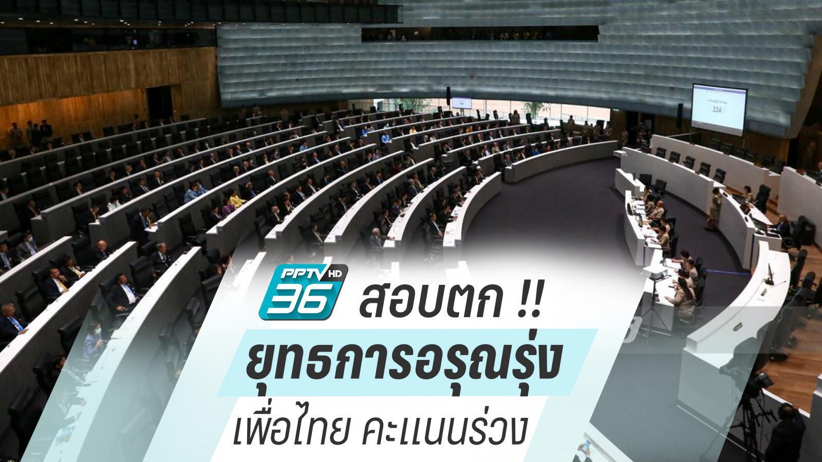 """สอบตก !! """"ยุทธการอรุณรุ่ง"""" ทำเพื่อไทย คะแนนนิยมร่วง ??"""