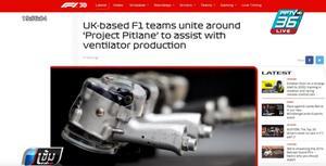 7 ทีมแข่ง F1 รวมตัวผลิตเครื่องช่วยหายใจ ช่วยผู้ป่วยโควิด-19