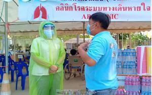 ชาวบ้านสงสาร บุคลากรทางการแพทย์  นำเสื้อกันฝนบริจาคทำชุดคลุมป้องกันเชื้อ