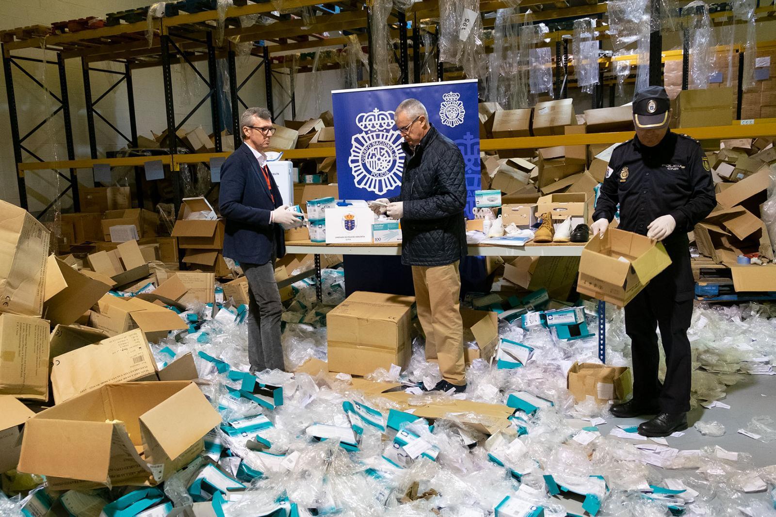 สเปน จับนักธุรกิจขโมยหน้ากาก 2 ล้านชิ้น ส่งขายโปรตุเกส