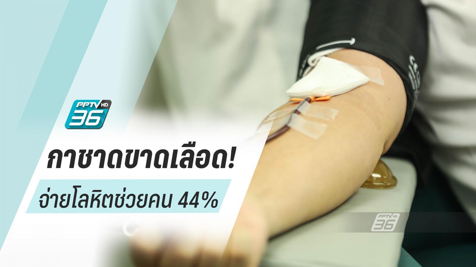 กาชาดขาดเลือด! เหตุโควิดทำคนบริจาคน้อย จ่ายโลหิตช่วยผู้ป่วยแค่ 44%
