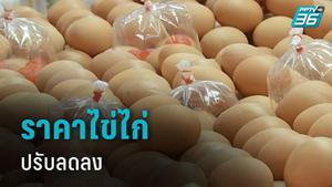 ราคาไข่ไก่ปรับลดลงเฉลี่ยฟองละ 20 สตางค์