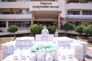 """เซเว่นฯ เดินหน้า """"คนไทยไม่ทิ้งกัน"""" มอบอุปกรณ์ทางการแพทย์ สู่รพ.ในภูมิภาค เริ่ม รพ.มหาราชนครราชสีมา และ รพ.พระสมุทรเจดีย์ฯ"""