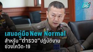 """เสนอคู่มือ New Normal สำหรับ """"ตำรวจ"""" ปฏิบัติงานช่วง โควิด-19 หวั่นตำรวจถูกกักตัวจำนวนมาก กระทบความปลอดภัยประชาชน"""