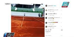 """""""ยอโควิช""""  ฝ่าฝืนล็อกดาวน์ หลังโพสต์คลิปซ้อมที่สนามเทนนิส"""