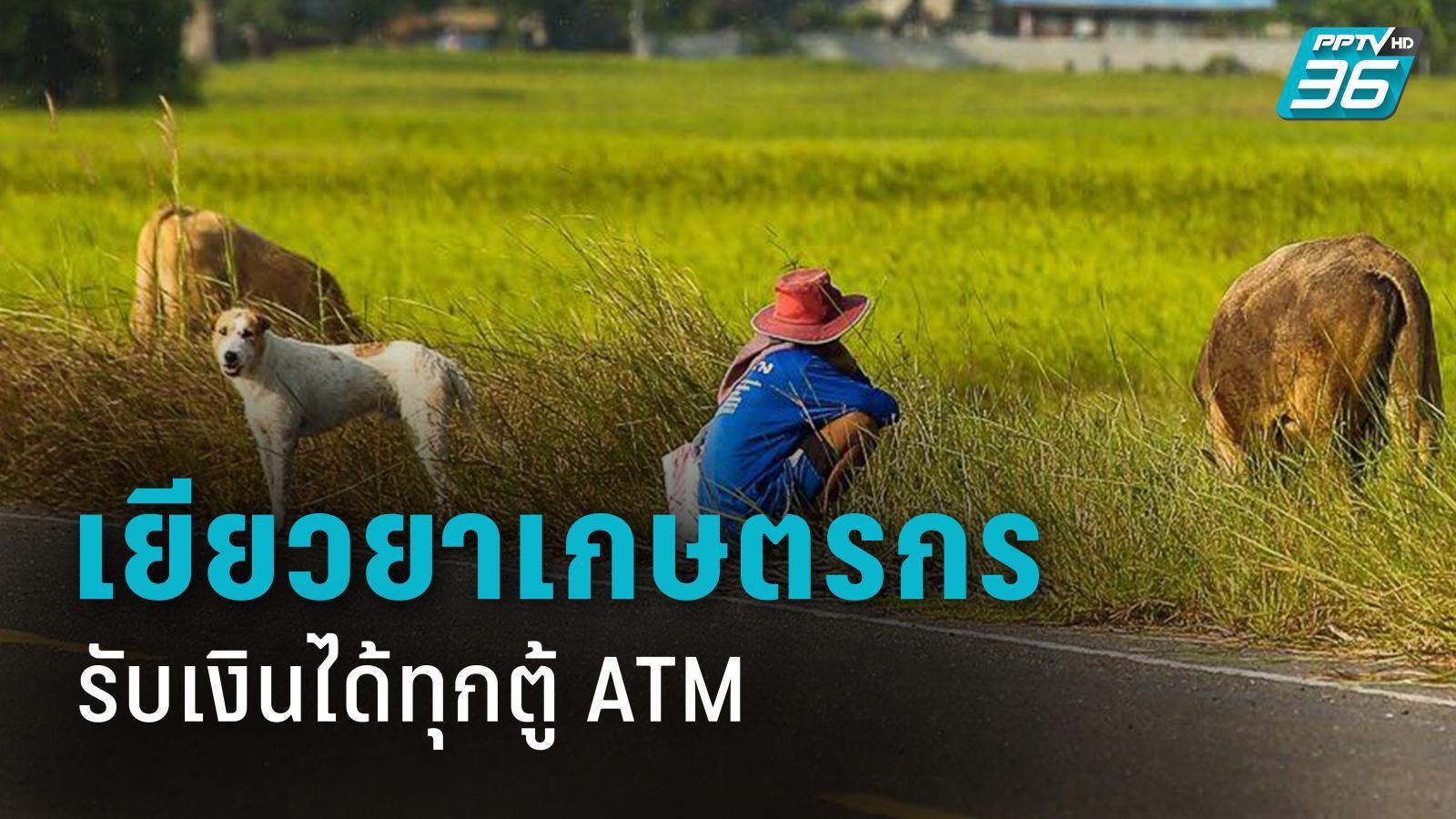 รับเงินได้ทุกตู้เอทีเอ็ม  www.เยียวยาเกษตรกร.com ฟรีค่าธรรมเนียม 3 ครั้ง/เดือน