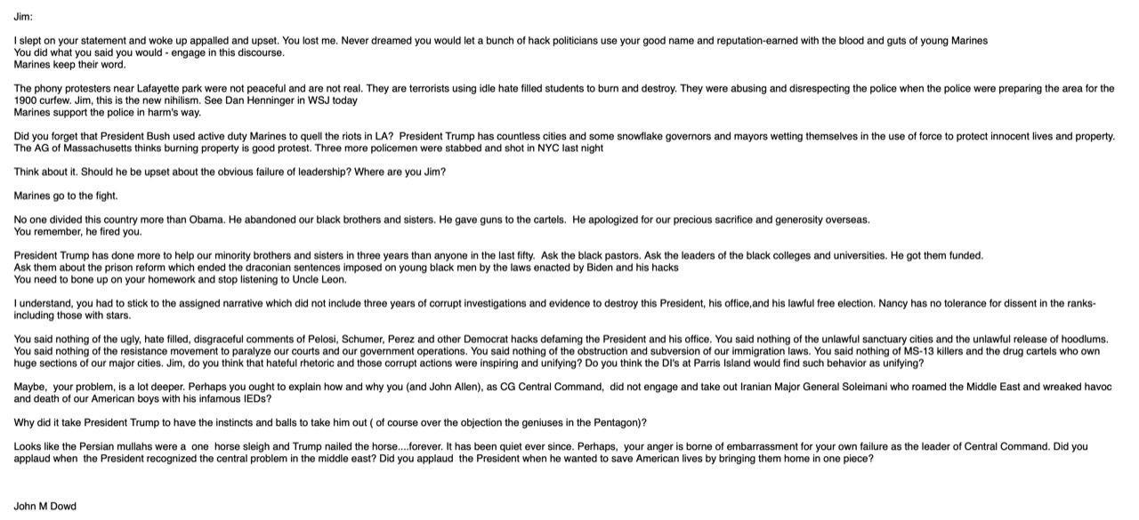"""ทรัมป์แชร์จดหมายที่เรียกผู้ประท้วงอย่างสันติว่าเป็น """"ผู้ก่อการร้าย"""""""
