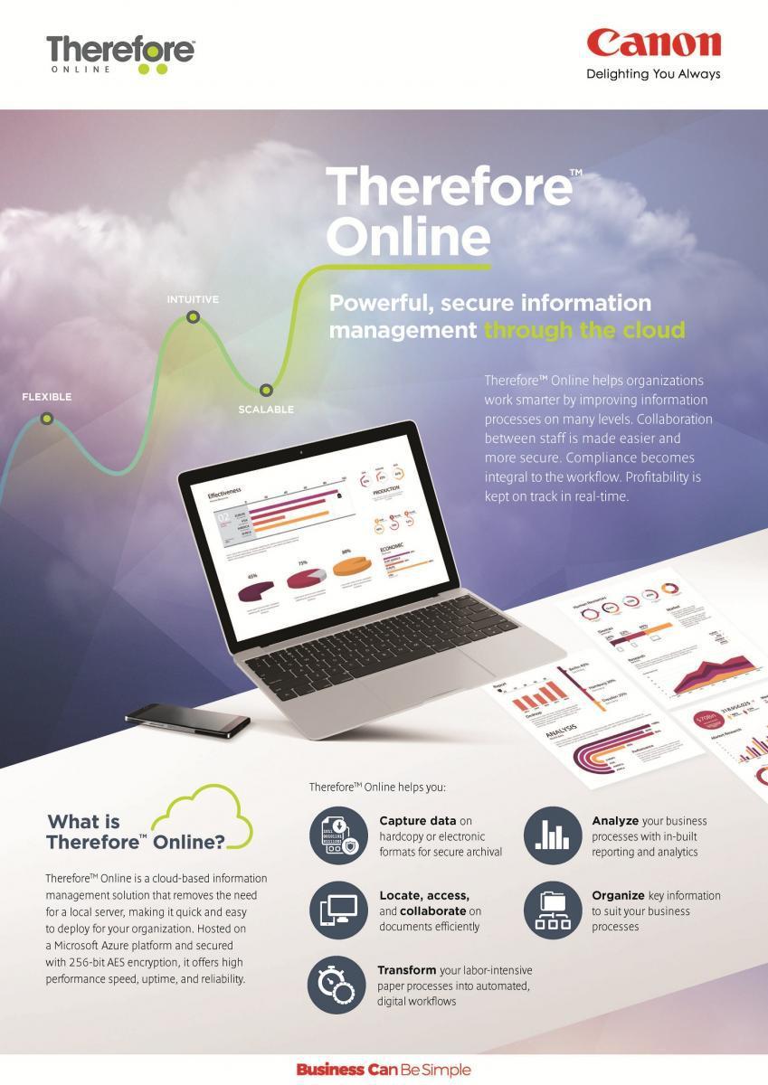 แคนนอนชูระบบการจัดการเอกสาร Therefore Online มิติใหม่ ตอบโจทย์คนทำงานยุค New Normal