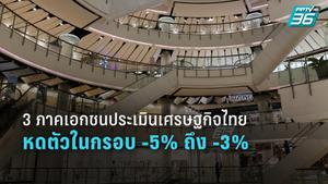 3 ภาคเอกชน คาดเศรษฐกิจไทยหดตัว -5% ถึง -3%  ชี้ ภาคธุรกิจต้องใช้เวลาอีกพอสมควรกว่าจะฟื้น