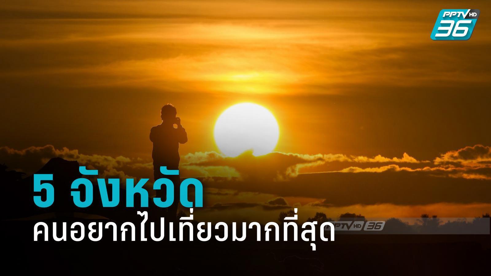 โพลชี้ คนไทยยังไม่อยากเปิดประเทศ เผย 5 จังหวัดอยากไปเที่ยวมากที่สุดหลังคลายล็อก