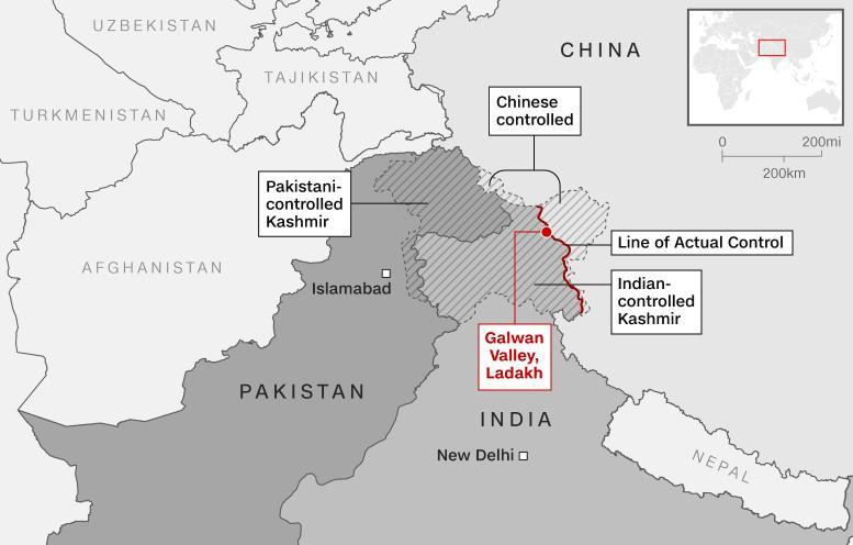 ทหารอินเดีย 3 นายเสียชีวิตหลังปะทะจีน ปมแนวชายแดนเทือกเขาหิมาลัย