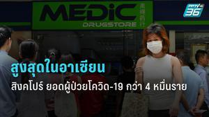 สิงคโปร์ยอดผู้ป่วยโควิด-19 สูงสุดในอาเซียน