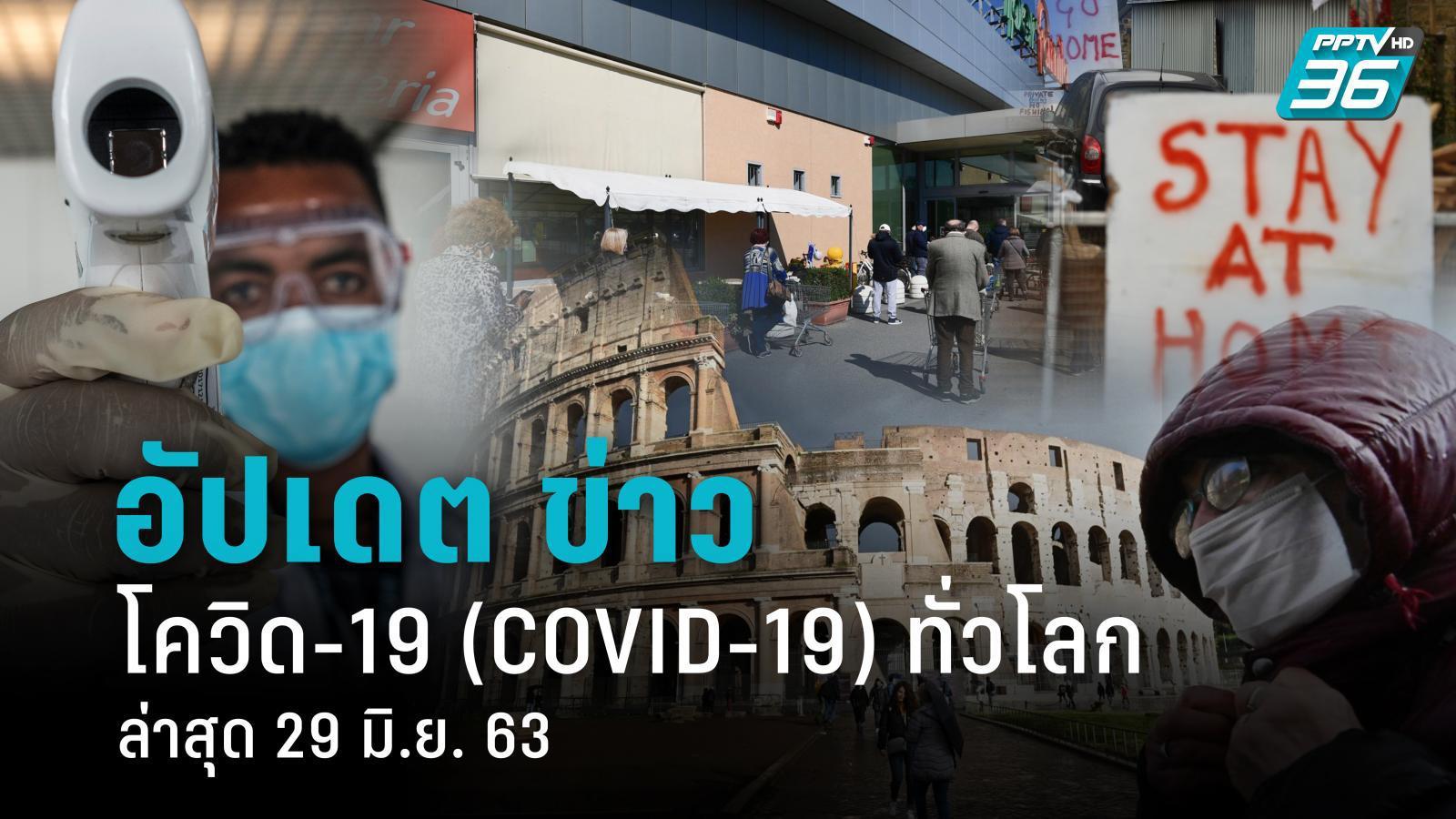 อัปเดตข่าว สถานการณ์ โควิด-19 ทั่วโลก ล่าสุด 29 มิ.ย. 63