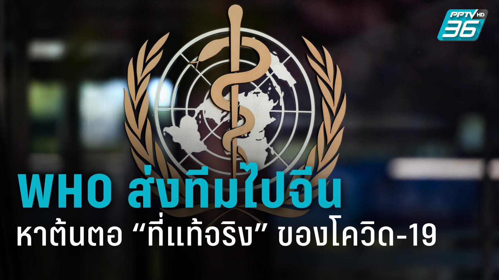 WHO เตรียมส่งทีมไปจีน สืบหาต้นตอของไวรัสโคโรนาสายพันธุ์ใหม่
