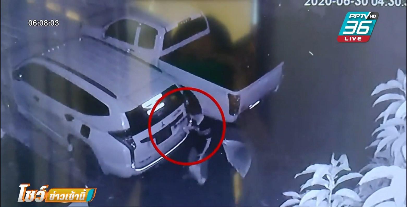 วงจรปิดจับภาพ !! ผัวเก่าน้องเมีย เอาสีสเปรย์พ่นรถเสียหาย 2 คัน