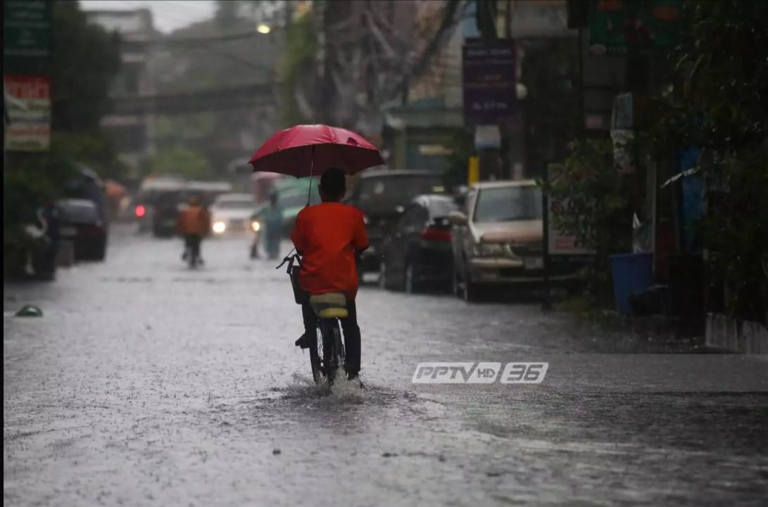 อุตุฯ เผย ทั่วไทยมีฝนตกหนัก - กทม.ตกร้อยละ 40