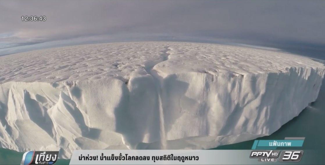 น่าห่วง! น้ำแข็งขั้วโลกลดลง ทุบสถิติในฤดูหนาว (คลิป)