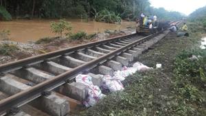การรถไฟแจ้งวันนี้เดินรถได้ถึงสถานีชุมทางทุ่งสง