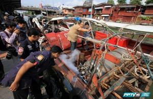 เรือโดยสารคลองแสนแสบระเบิด หน้าวัดเทพลีลา บาดเจ็บเพียบ