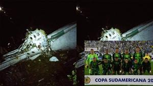 """""""ชาเปโคเอนเซ่"""" ทีมลีกบราซิล เครื่องบินตกในโคลอมเบีย (คลิป)"""