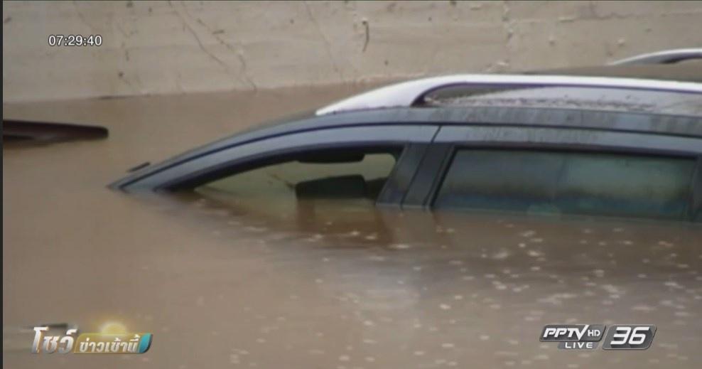 น้ำท่วมในสเปนเสียชีวิตแล้ว 2 ราย