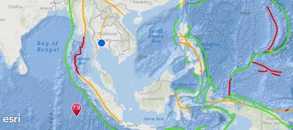 ด่วน ! เกาะสุมาตรา แผ่นดินไหว ใต้ทะล ขนาด 7.9 ลึก 10 กม.