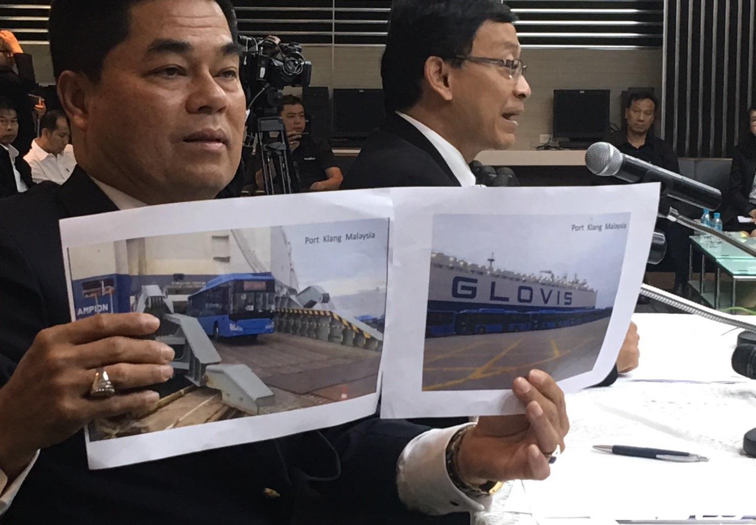 กรมศุลฯ โชว์หลักฐานเด็ด รถเมล์ NGV ถูกขนขึ้นเรือจากจีน (คลิป)